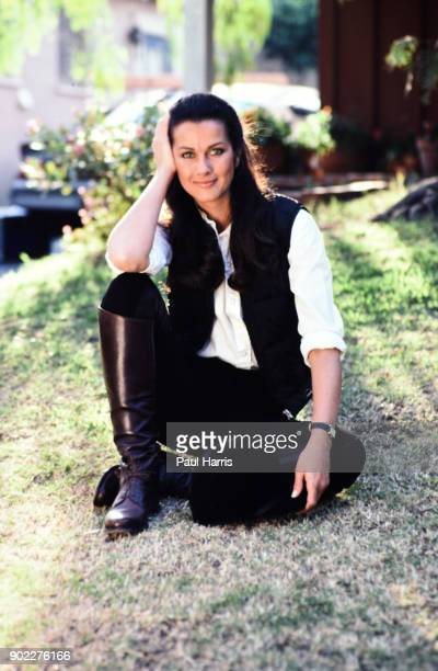 Veronica Hamel famous her role in Hill Street Blues is an American actress and model Photographed September 14 1984 in Beverly Hills California