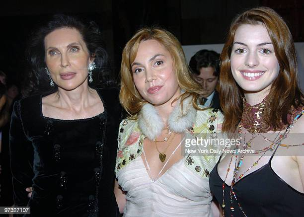 Veronica Hearst daughter Fabiola Beracasa and actress Anne Hathaway get together during the Americans for the Arts' ninth annual National Arts Awards...