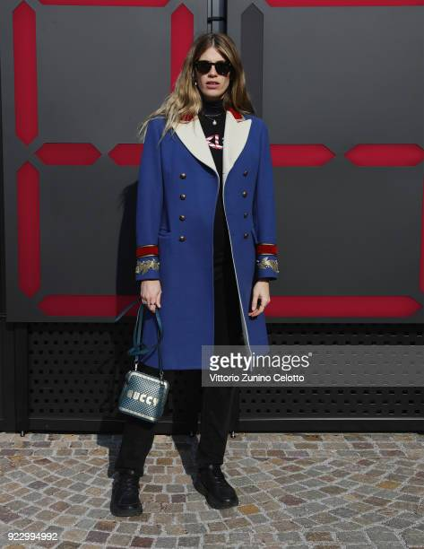 Veronica Heilbrunner arrives at the Gucci show during Milan Fashion Week Fall/Winter 2018/19 on February 21 2018 in Milan Italy