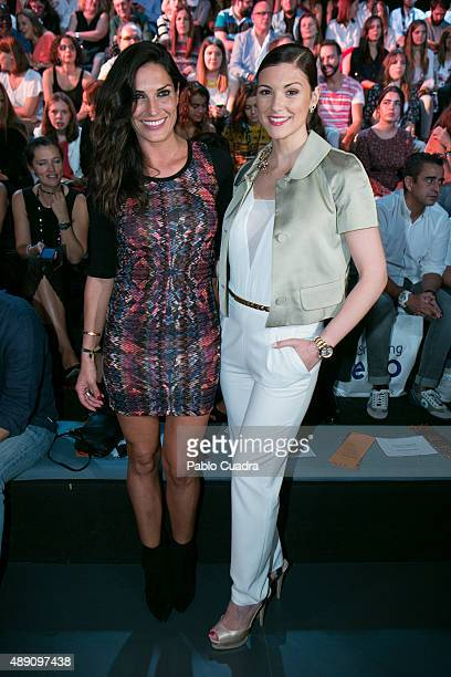 Veronica Hidalgo and Maria Jesus Ruiz are seen attending MercedesBenz Fashion Week Madrid Spring/Summer 2016 at Ifema on September 19 2015 in Madrid...