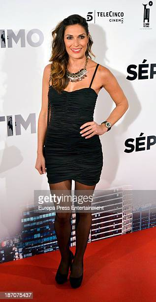 Veronica Hidalgo attends 'Septimo' premiere at Capitol Cinema on November 5 2013 in Madrid Spain