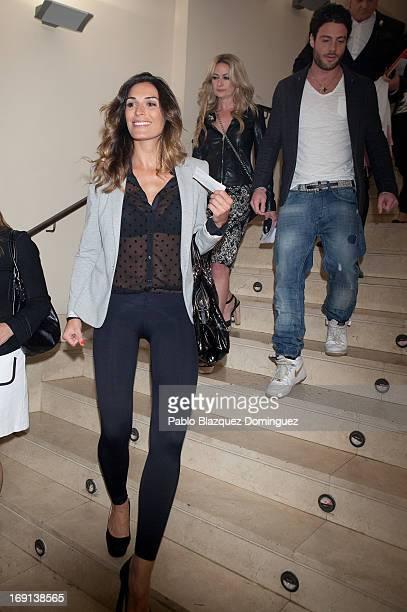 Veronica Hidalgo Olvido Hormigos and Alessandro Livi attend 'Hacemos un Trio' photocall at Teatro Nuevo Alcala on May 20 2013 in Madrid Spain