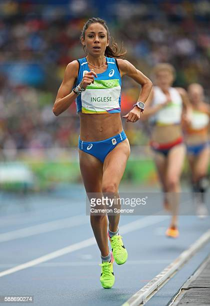 Veronica Inglese of Italy competes in the Women's 10000 metres final on Day 7 of the Rio 2016 Olympic Games at the Olympic Stadium on August 12 2016...