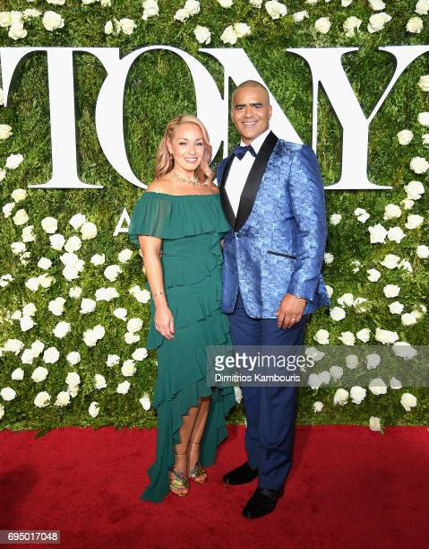 Veronica Jackson and Christopher Jackson attend the 2017 Tony Awards at Radio City Music Hall on June 11 2017 in New York City