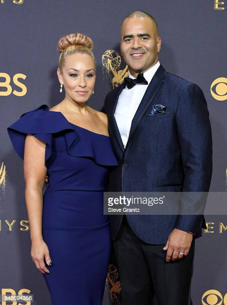 Veronica Jackson and Christopher Jackson attend the 69th Annual Primetime Emmy Awards at Microsoft Theater on September 17 2017 in Los Angeles...