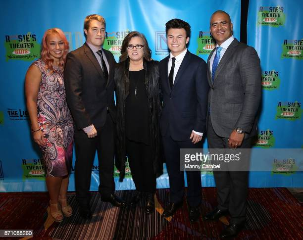 Veronica Jackson Parker O'Donnell Rosie O'Donnell Blake O'Donnell and Christopher Jackson attend the 2017 Rosie's Theater Kids Fall Gala at The New...