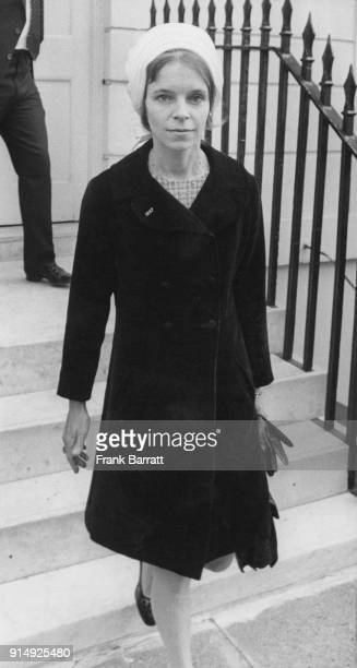 Veronica Lady Lucan wife of the missing Lord Lucan leaves her home to attend the inquest on the family's murdered nanny Sandra Rivett 17th June 1975