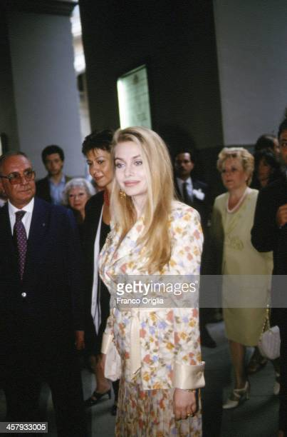 Veronica Lario Second wife of Italian Prime Minister Silvio Berlusconi during the G7 Summit on July 8 1994 in Naples Italy