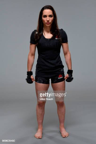 Veronica Macedo of Venezuela poses for a portrait during a UFC photo session on May 16 2018 in Santiago Chile