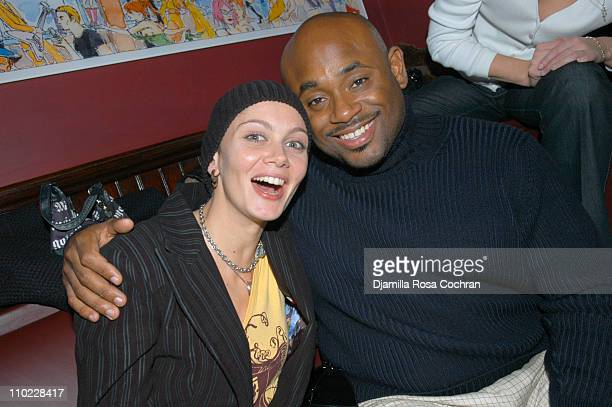 Veronica Mainetti and Steve Stoute during Ryan Leslie Performs at the Yellow Fever Party at Noel Ashman and Chris Noth's Nightclub NA at NA in New...