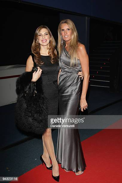 WEEKS Veronica Maya and Tiziana Rocca attend the 'Tosca amore disperato' at the Gran Teatro Theatre on December 11 2009 in Rome Italy