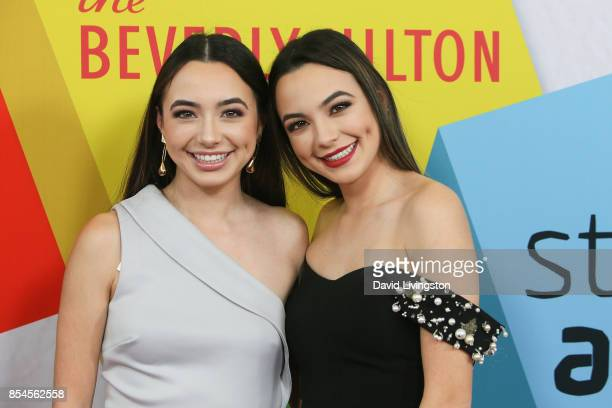 Veronica Merrell and Vanessa Merrell attend the 7th Annual 2017 Streamy Awards at The Beverly Hilton Hotel on September 26 2017 in Beverly Hills...