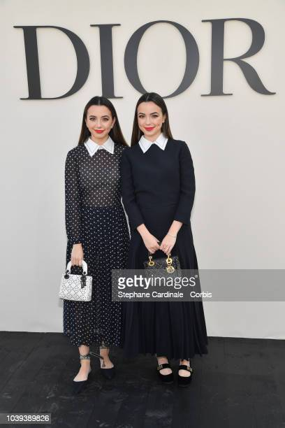 Veronica Merrell and Vanessa Merrell attend the Christian Dior show as part of the Paris Fashion Week Womenswear Spring/Summer 2019 on September 24...