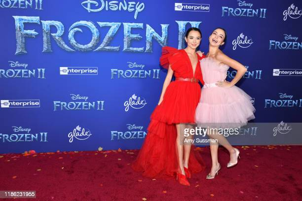 Veronica Merrell and Vanessa Merrell attend the premiere of Disney's Frozen 2 at Dolby Theatre on November 07 2019 in Hollywood California