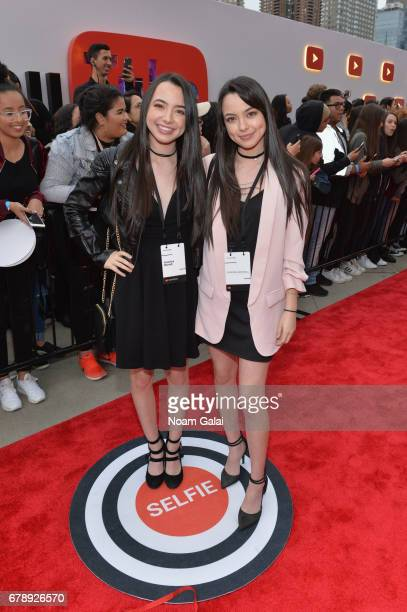 Veronica Merrell and Vanessa Merrell attend the YouTube #Brandcast presented by Google at Javits Center North on May 4 2017 in New York City