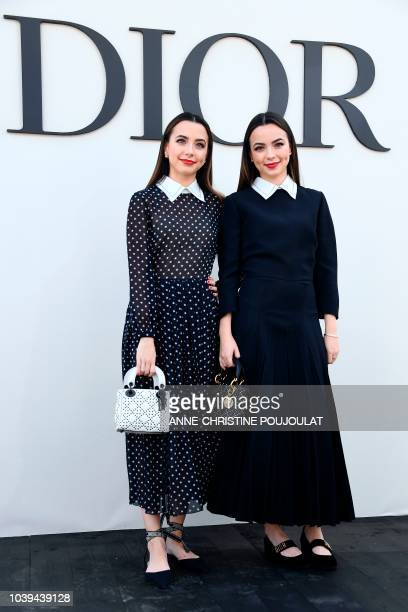 Veronica Merrell and Vanessa Merrell pose during the photocall prior to the Christian Dior's SpringSummer 2019 ReadytoWear collection fashion show in...