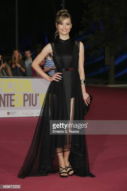 Veronica Olivier attends the 'Il Bosco' Pink Carpet as a part of Roma Fiction Fest 2014 at Auditorium Parco Della Musica on September 18 2014 in Rome...