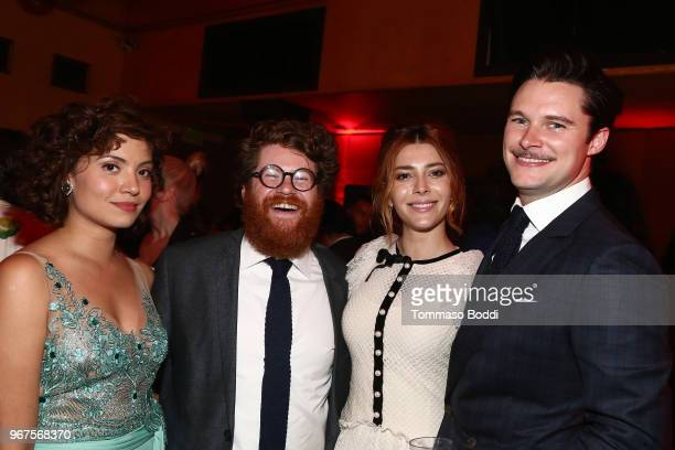 Veronica Osorio Zack Pearlman Elena Satine and Jack Reynor attend the After Party for the Premiere Of CBS All Access' 'Strange Angel' at Avalon on...