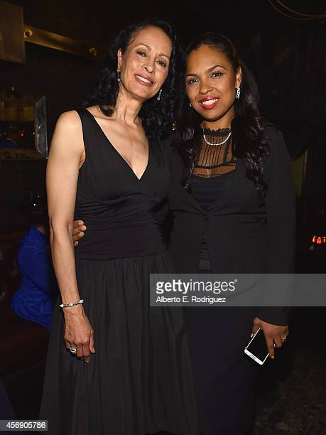 Veronica Porsche Ali and Hana Ali attend the after party for the Los Angeles premiere of Focus World's I Am Ali at The Sayers Club on October 8 2014...