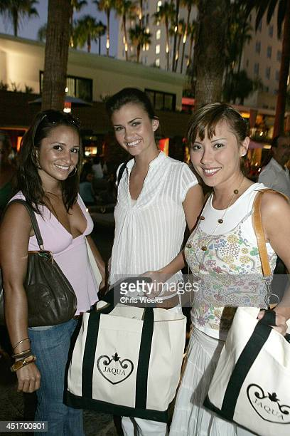 Veronica Portillo Lauren Hill and Clara Lee during Jaqua Party at The Roosevelt Hotel at The Roosevelt Hotel in Hollywood California United States