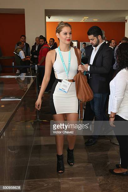 Veronica Rodriguez attends the Soccerex Americas Forum Mexico City Day 1 at Camino Real Polanco Hotel on May 11 2016 in Mexico City Mexico