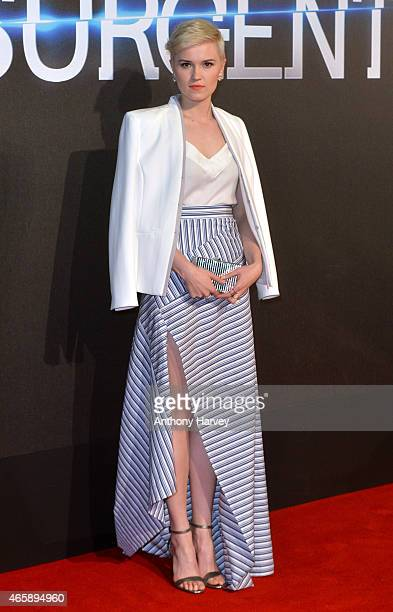 Veronica Roth attends the World Premiere of 'Insurgent' at Odeon Leicester Square on March 11 2015 in London England