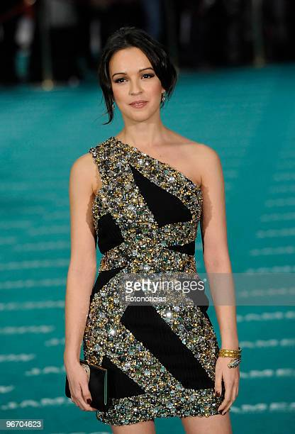 Veronica Sanchez arrives to the 2010 edition of the 'Goya Cinema Awards' ceremony at the Palacio de Congresos on February 14 2010 in Madrid Spain