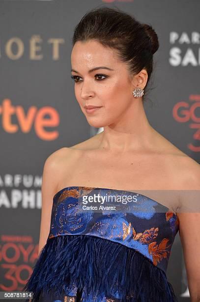 Veronica Sanchez attends Goya Cinema Awards 2016 at Madrid Marriott Auditorium on February 6 2016 in Madrid Spain