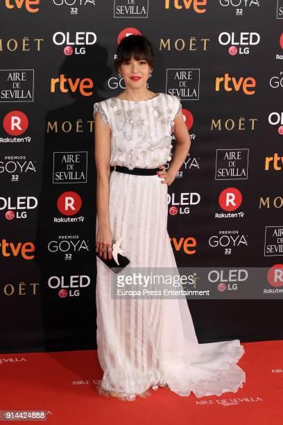 Veronica Sanchez attends Goya Cinema Awards 2018 at Madrid Marriott Auditorium on February 3 2018 in Madrid Spain