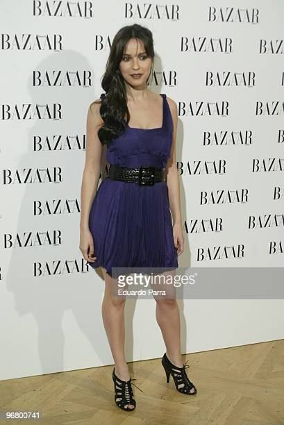 Veronica Sanchez attends 'Harper's Bazaar' presentation party at the Casino de Madrid on February 17 2010 in Madrid Spain