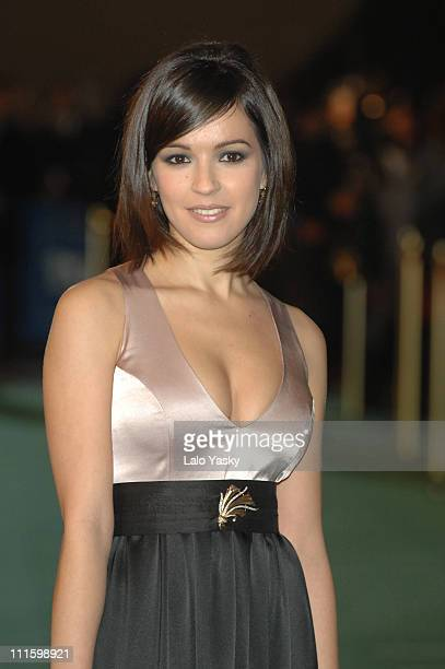 Veronica Sanchez during 2007 Goya Awards Arrivals at Palacio de Exposiciones in Madrid Spain