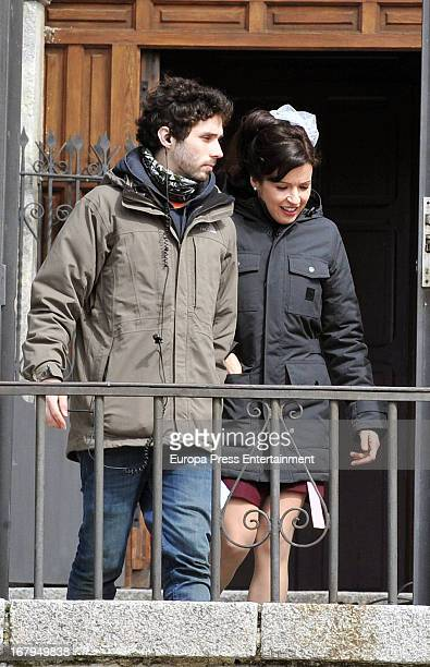 Veronica Sanchez is seen on the set filming 'Gran Reserva' on April 9 2013 in Madrid Spain