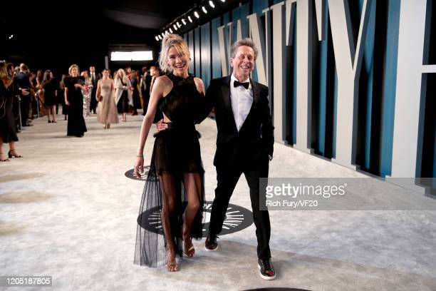 Veronica Smiley and Brian Grazer attend the 2020 Vanity Fair Oscar Party hosted by Radhika Jones at Wallis Annenberg Center for the Performing Arts...