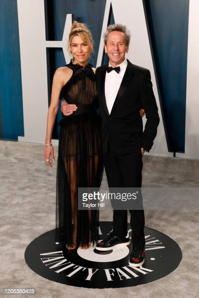 Veronica Smiley, and Brian Grazer attend the Vanity Fair Oscar Party at Wallis Annenberg Center for the Performing Arts on February 09, 2020 in...