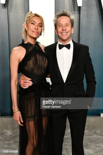 Veronica Smiley and Brian Grazer attends the 2020 Vanity Fair Oscar Party hosted by Radhika Jones at Wallis Annenberg Center for the Performing Arts...
