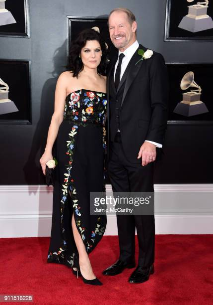 Veronica Stigeler and TV personality Bill Cowher attend the 60th Annual GRAMMY Awards at Madison Square Garden on January 28 2018 in New York City