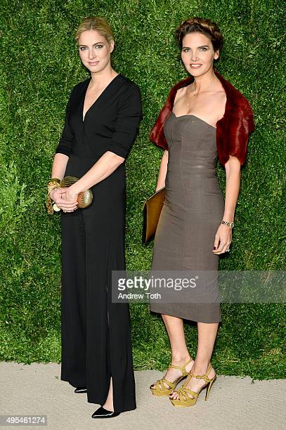 Veronica Swanson Beard and Veronica Miele Beard attend the 12th annual CFDA/Vogue Fashion Fund Awards at Spring Studios on November 2, 2015 in New...