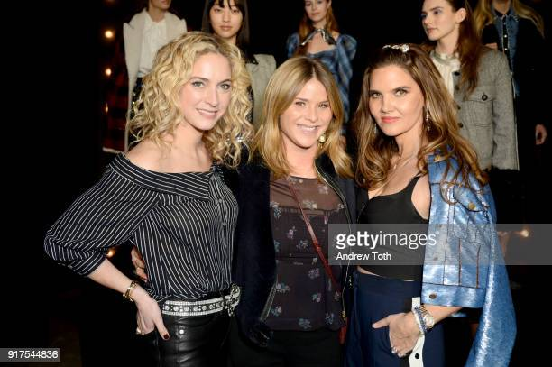 Veronica Swanson Beard Jenna Bush Hager and Veronica Miele Beard attend the Veronica Beard Fall 2018 presentation at Highline Stages on February 12...