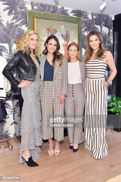Veronica Swanson Beard Jordana Brewster Brittany Snow and Veronica Miele Beard attend Veronica Beard LA Store Opening on February 21 2018 in Los...