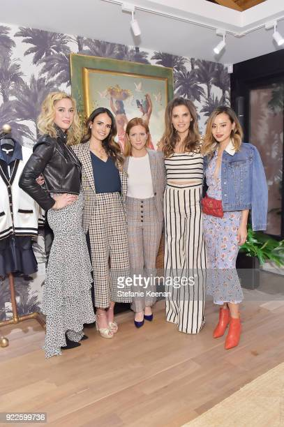Veronica Swanson Beard Jordana Brewster Brittany Snow Veronica Miele Beard and Jamie Chung attend Veronica Beard LA Store Opening on February 21 2018...