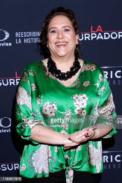 Veronica Teran poses for photos during a red carpet of premiere 'La Usurpadora' Tv Screening soap opera at Club de Banqueros on August 29 2019 in...