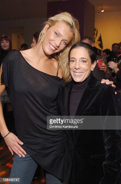 Veronica Varekova and Faith Kates Kogan during L'OREAL and The Ovarian Cancer Research Fund Host Photographic Exhibition Gala Opening and Auction at...