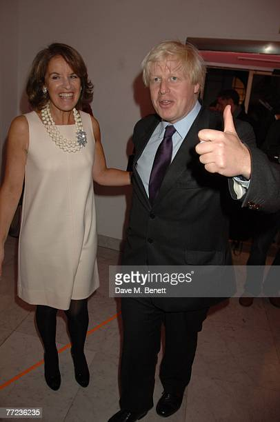 Veronica Wadley and Boris Johnson attend The Evening Standard's 1000 most Influential people in London 2007 launch party at the Design Museum on...