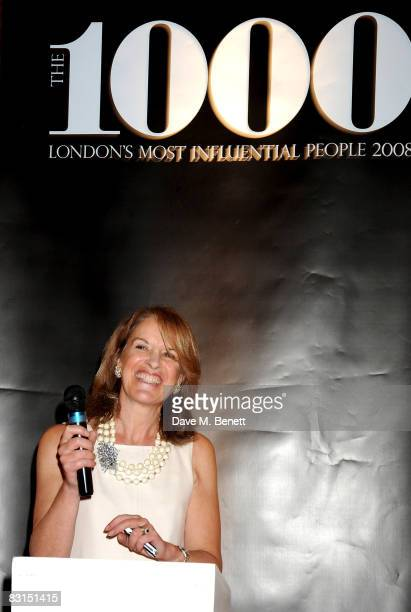 Veronica Wadley attends the launch party for the Evening Standard:1000 Most Influential People In London list, at the Wallace Collection on October...