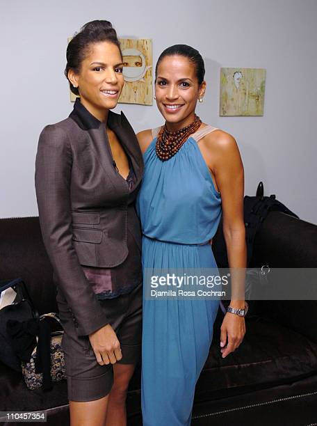 Veronica Webb and Crystal McCrary Anthony during Dirty Laundry Screening at the Soho House June 8 2006 at Soho House in New York City New York United...