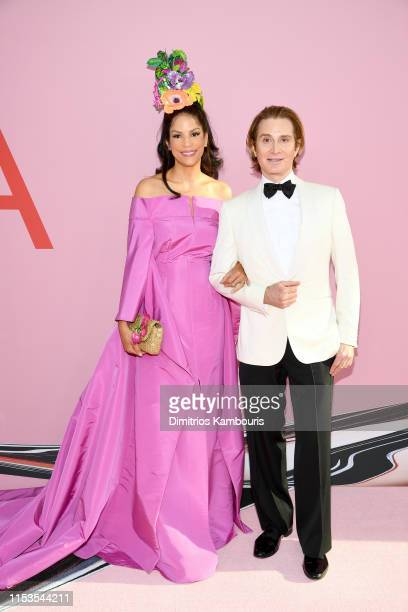 Veronica Webb and Eric Javits attend the CFDA Fashion Awards at the Brooklyn Museum of Art on June 03 2019 in New York City