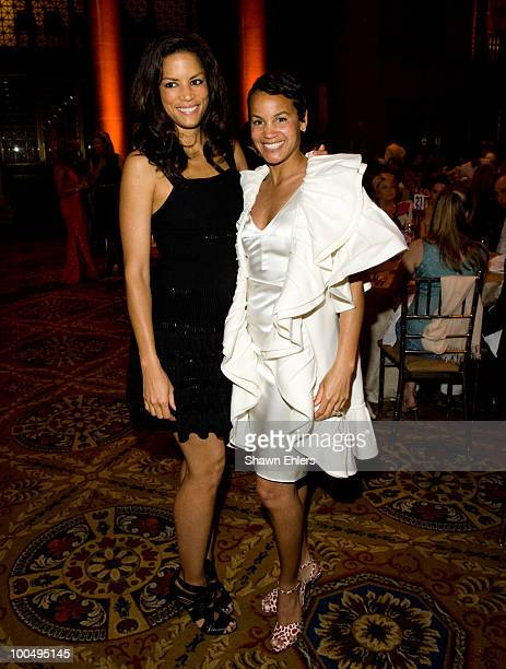 Veronica Webb and Erica Reid attend the 9th Annual ARTrageous Gala Dinner and Art Auction at Cipriani Wall Street on May 24 2010 in New York City
