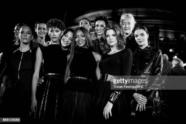 Veronica Webb Marie Sophie Wilson Imaan Hammam Naomi Campbell and Stephanie Seymour during The Fashion Awards 2017 in partnership with Swarovski at...
