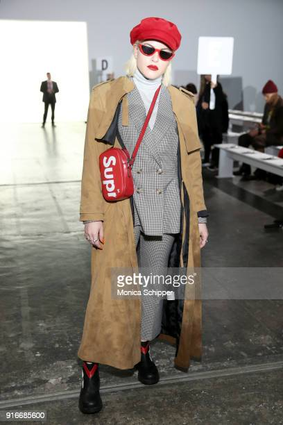 Veronika Guity attends the Helen Anthony fashion show during New York Fashion Week The Shows at Industria Studios on February 10 2018 in New York City