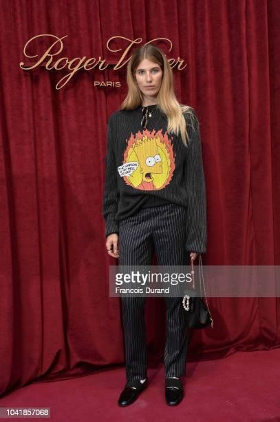 Veronika Heilbrunnel attends the Roger Vivier Presentation Spring/Summer 2019 during Paris Fashion Week on September 27 2018 in Paris France
